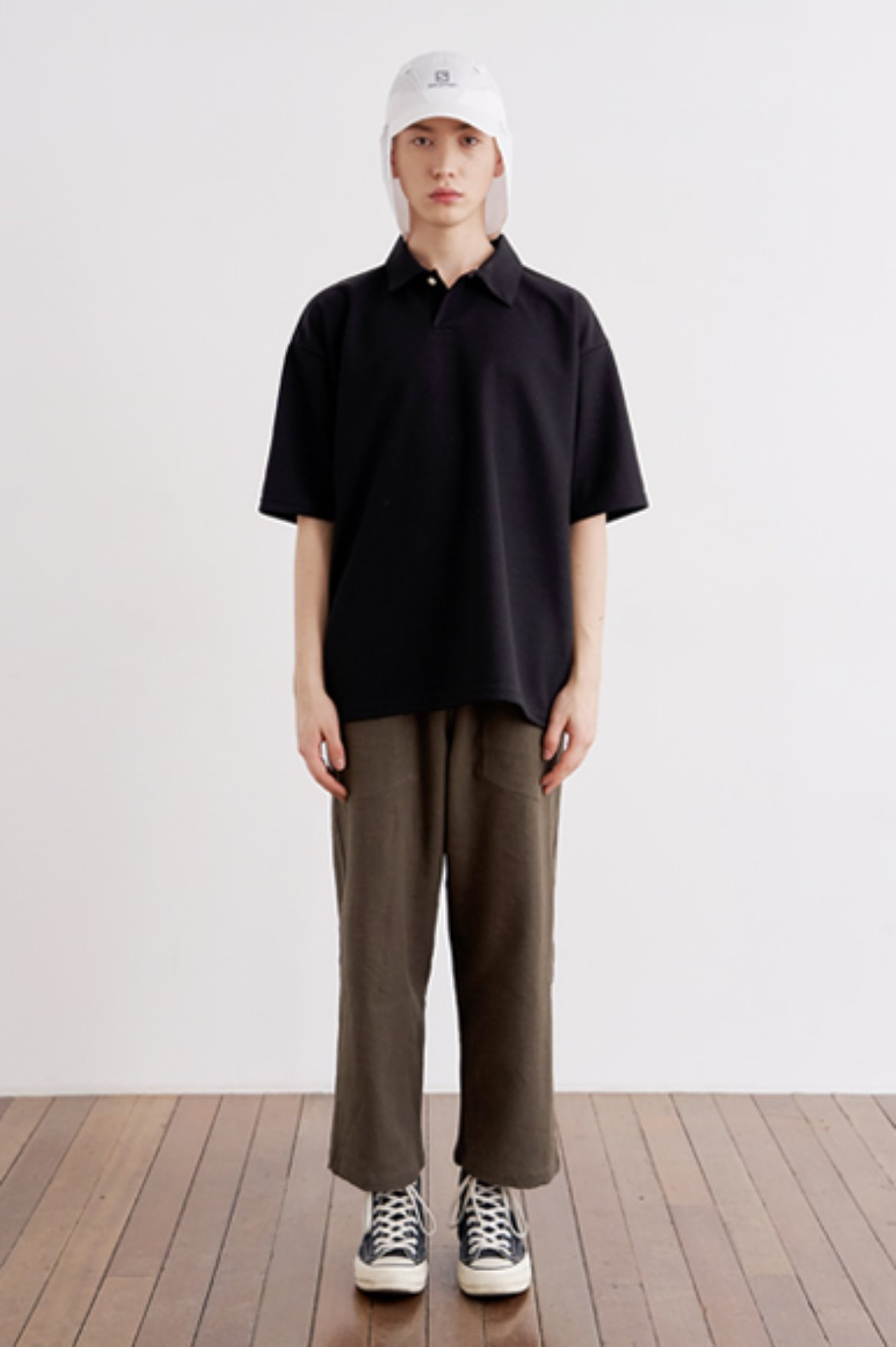 9/L Wide Cut Linen Pants [Deep Brown]