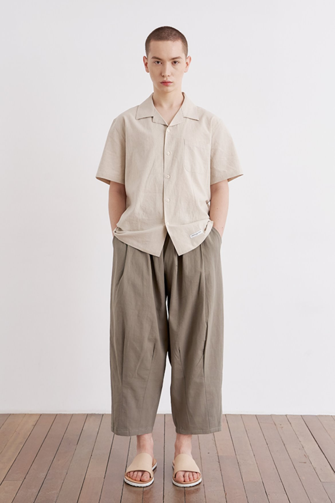Linen Easy Balloon Pants [Khaki]