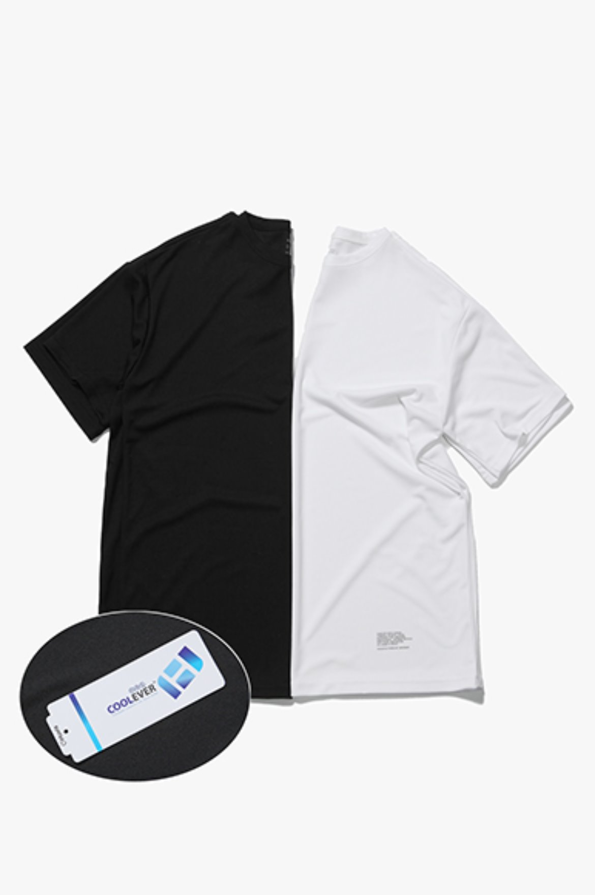 2Pack Coolever Regular Fit T-Shirts [Black/White]