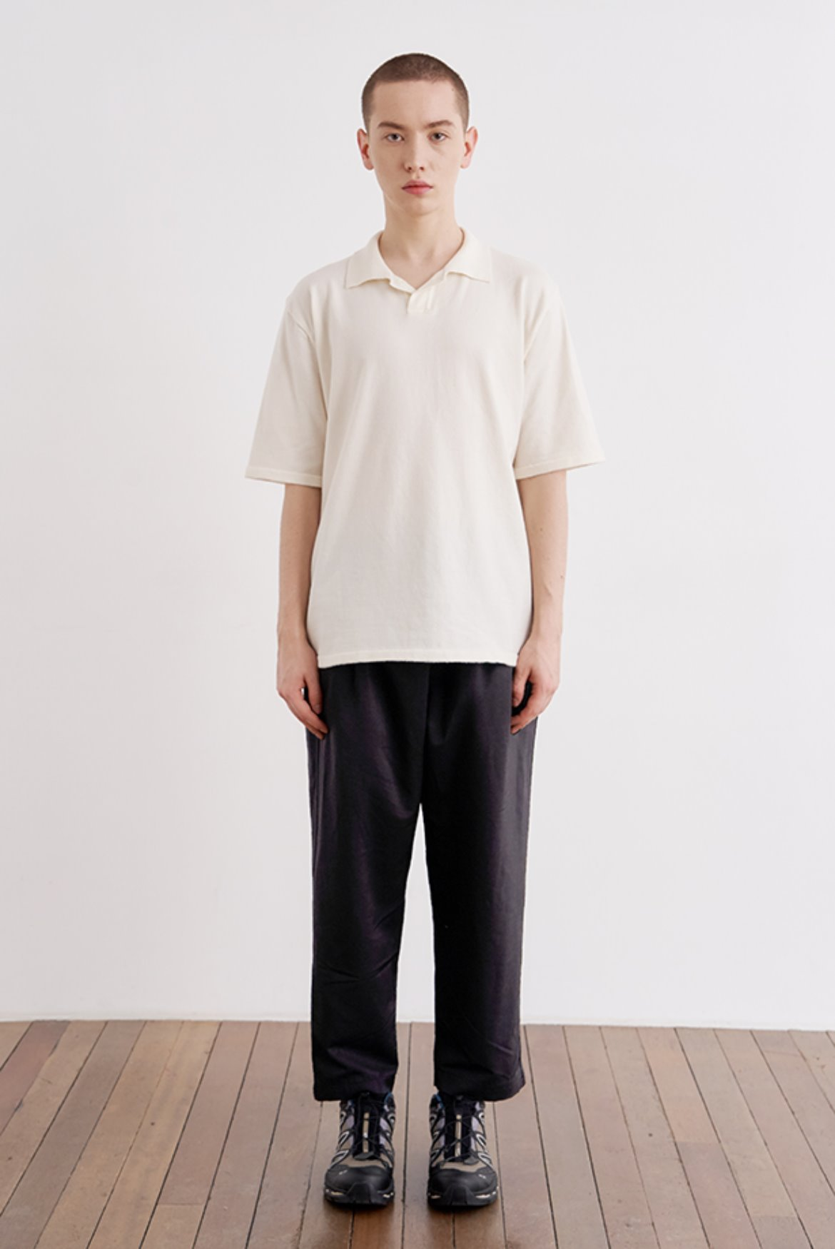 Cupra Two Tuck Crop Pants [Black]