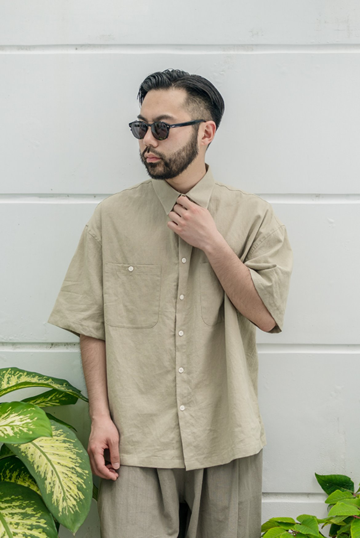 Solid Linen Box Shirts [Mint]