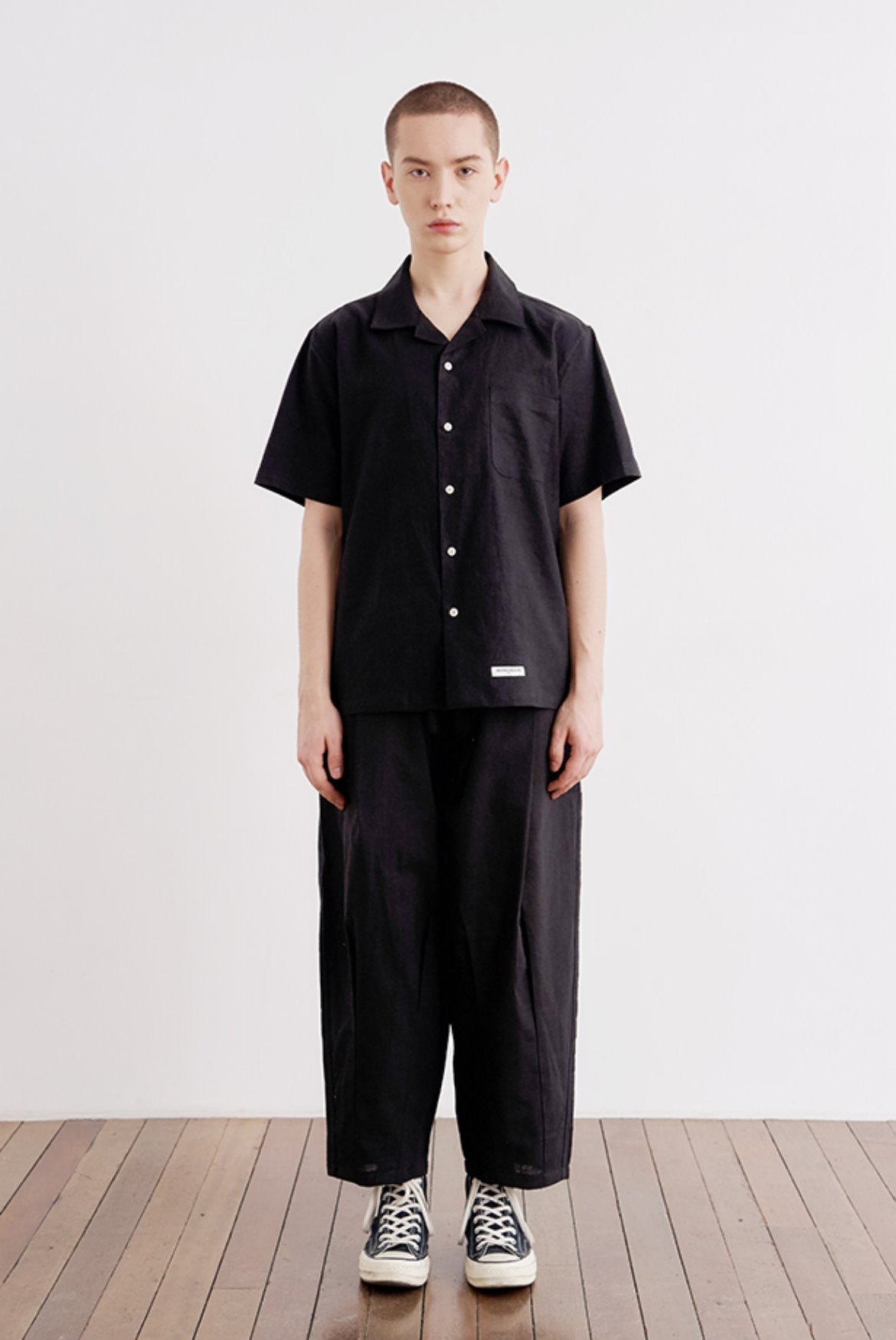 Linen Easy Balloon Pants [Black]