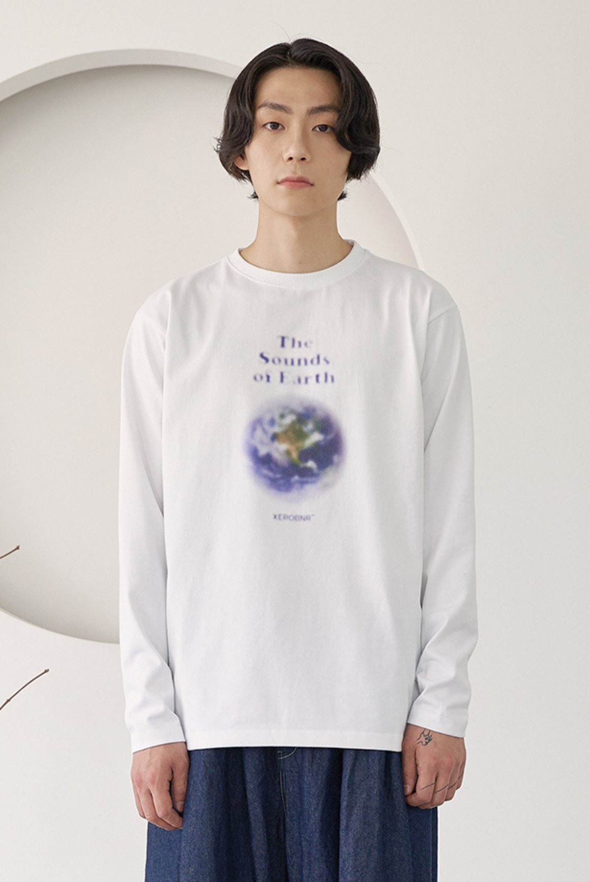 Blurry Print Long Sleeve [Earth]