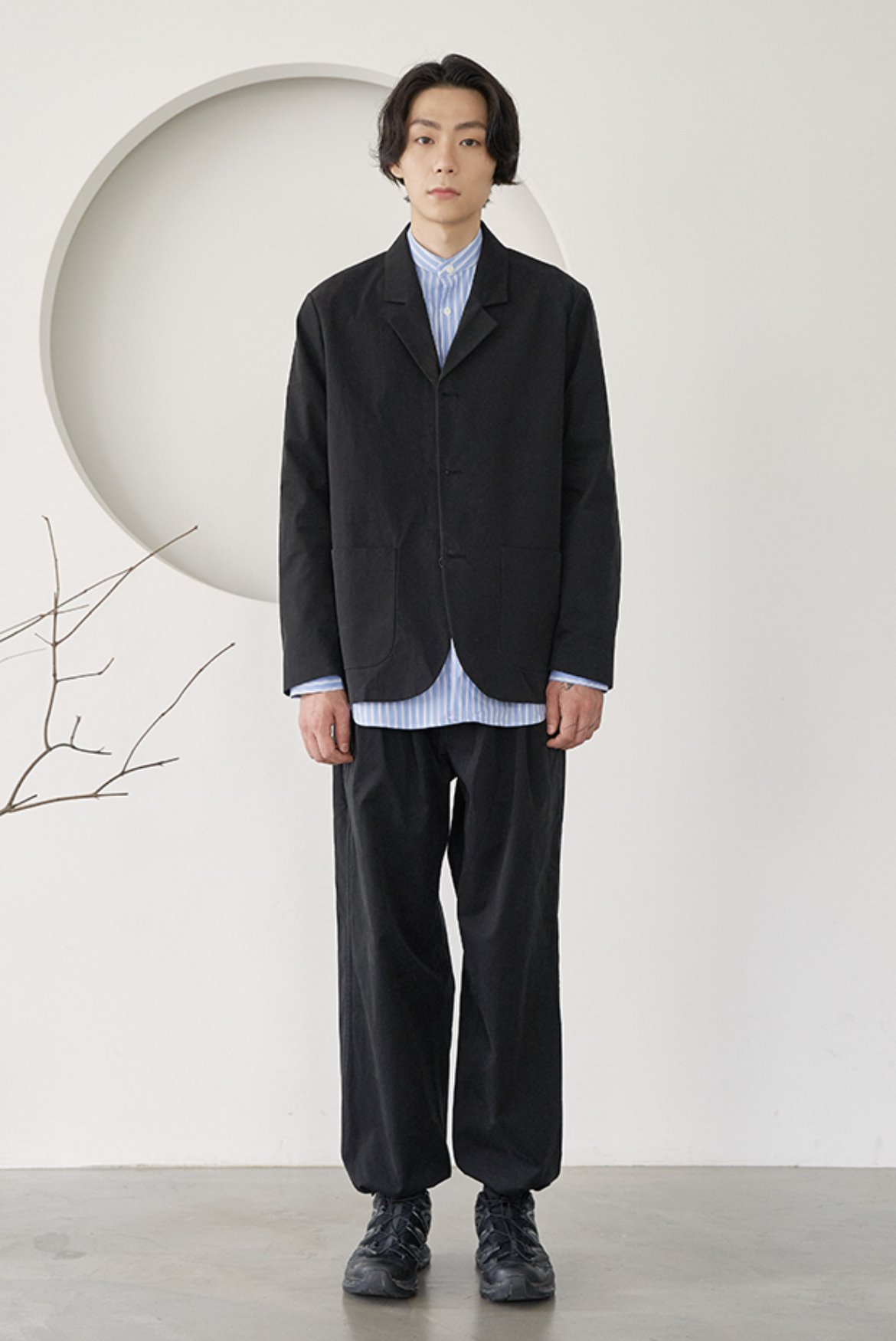 CN Two Tuck Wide String Pants [Black]