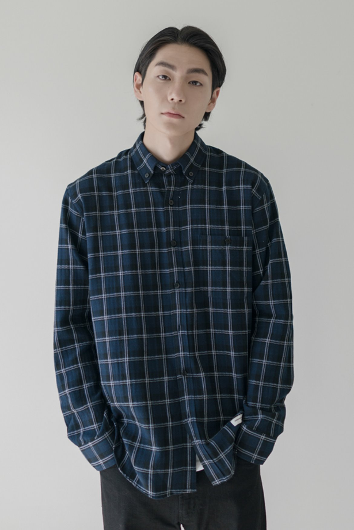HBT Check Shirts [Navy]
