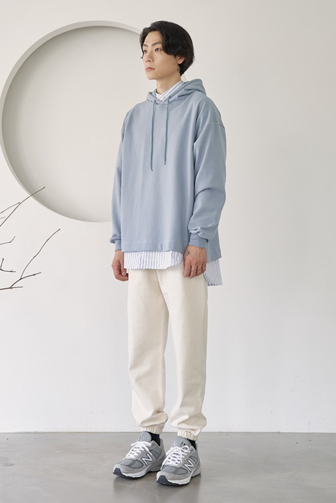 (12월 20일 예약배송) Classic Sweat Pants [Egg White]
