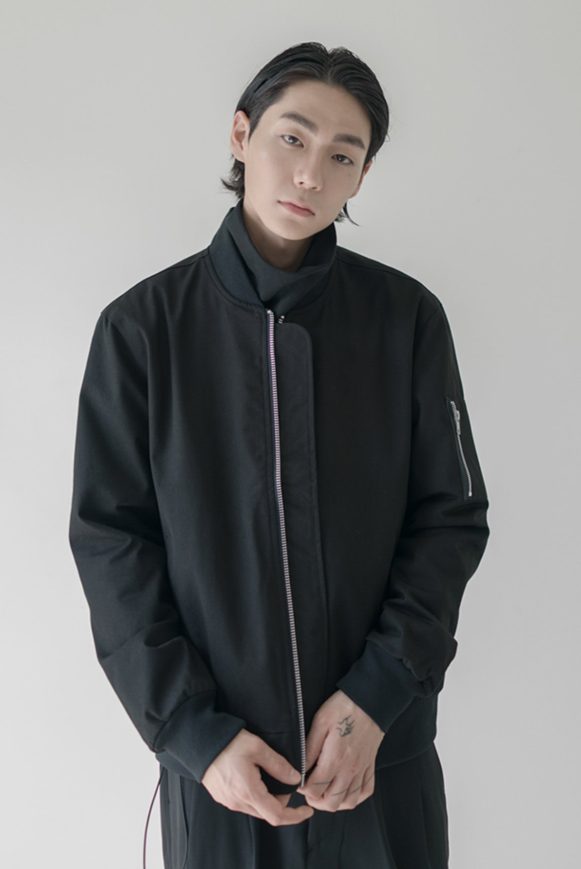 MA-1 Cotton Twill Jacket [Black]