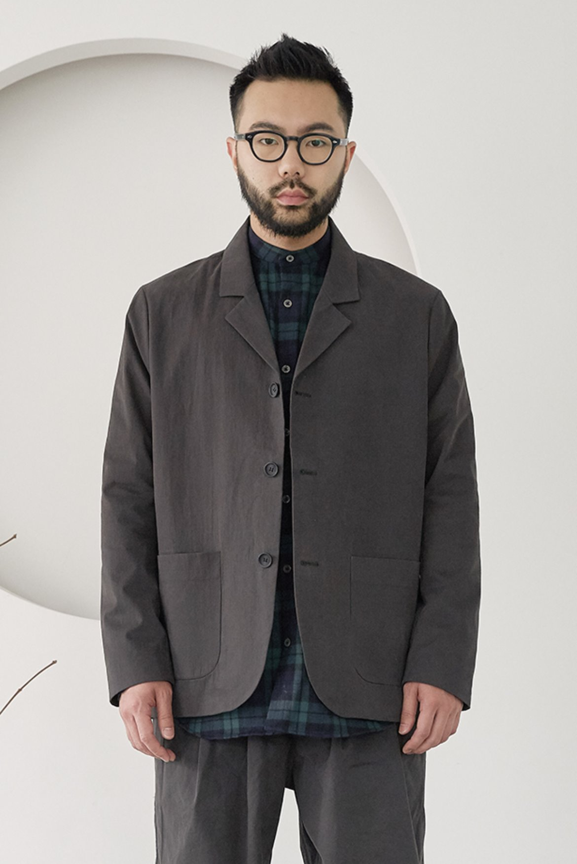 CN Three Button Jacket [Charcoal]
