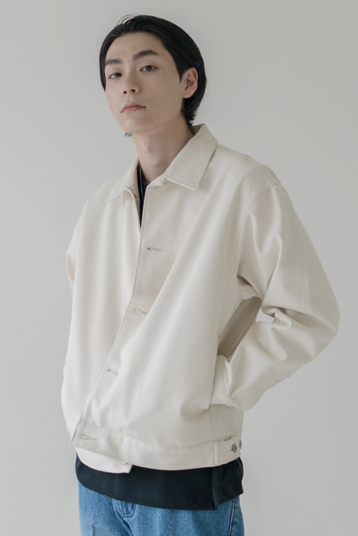 Neat Short Jacket [Egg White]
