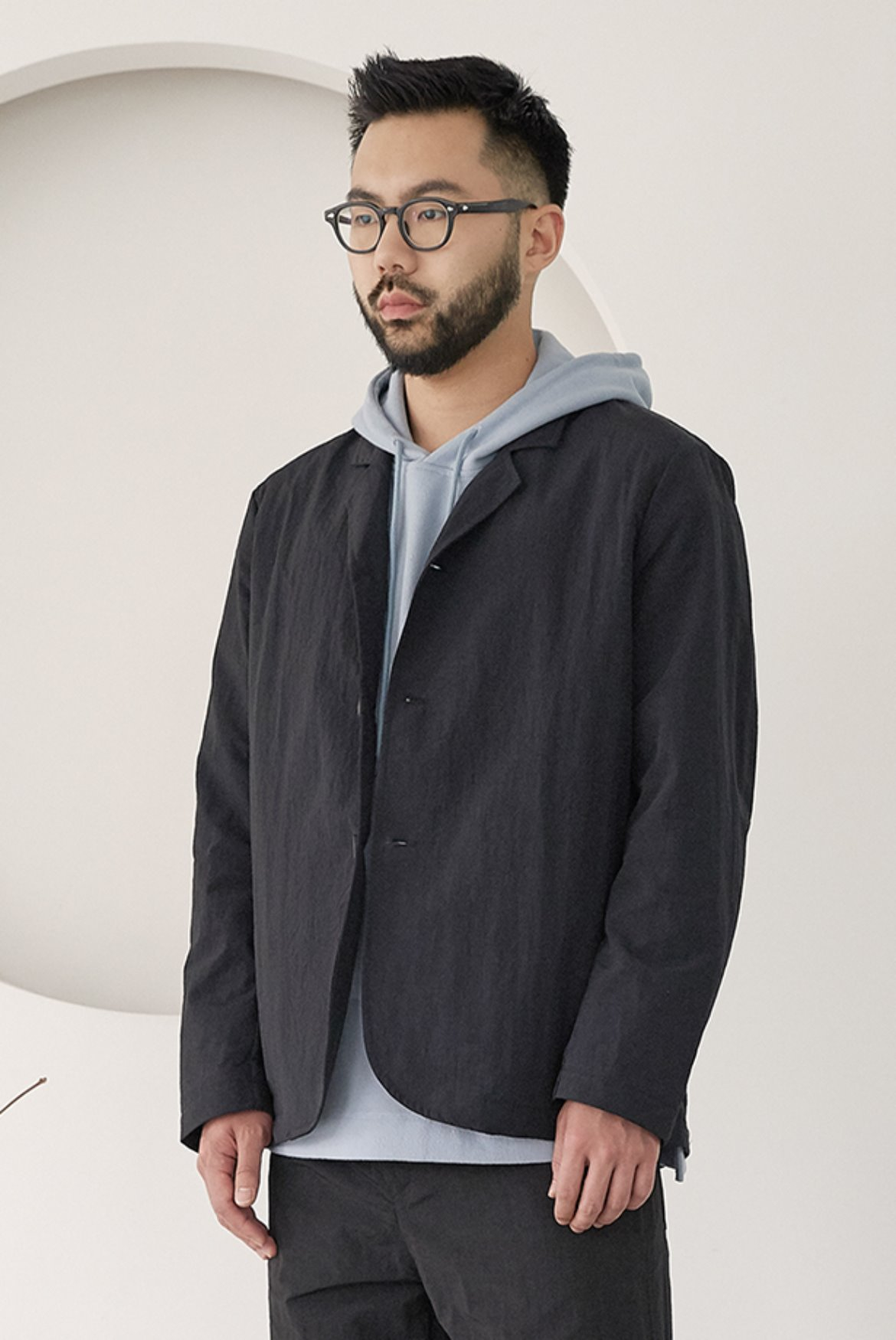 Nylon Comfortable Jacket [Black]