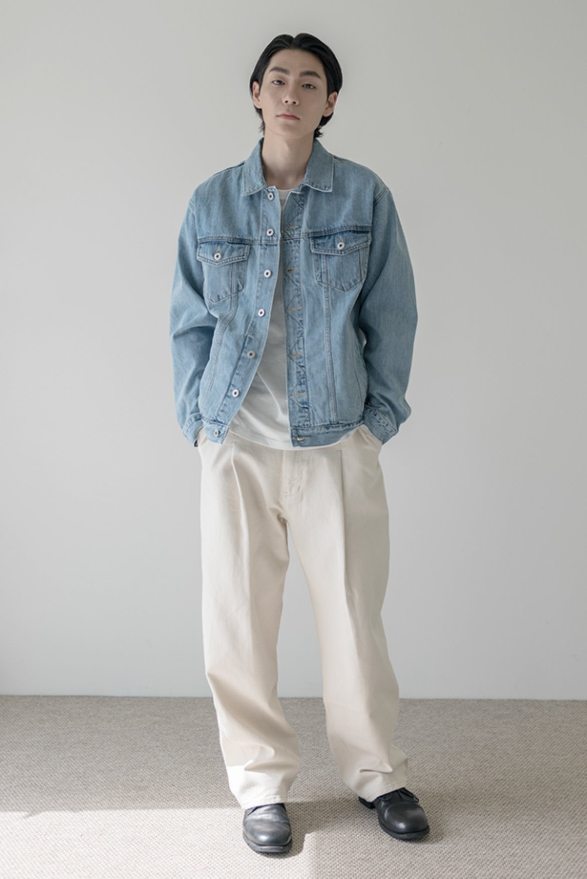 Deep One Tuck Pants [Egg White]