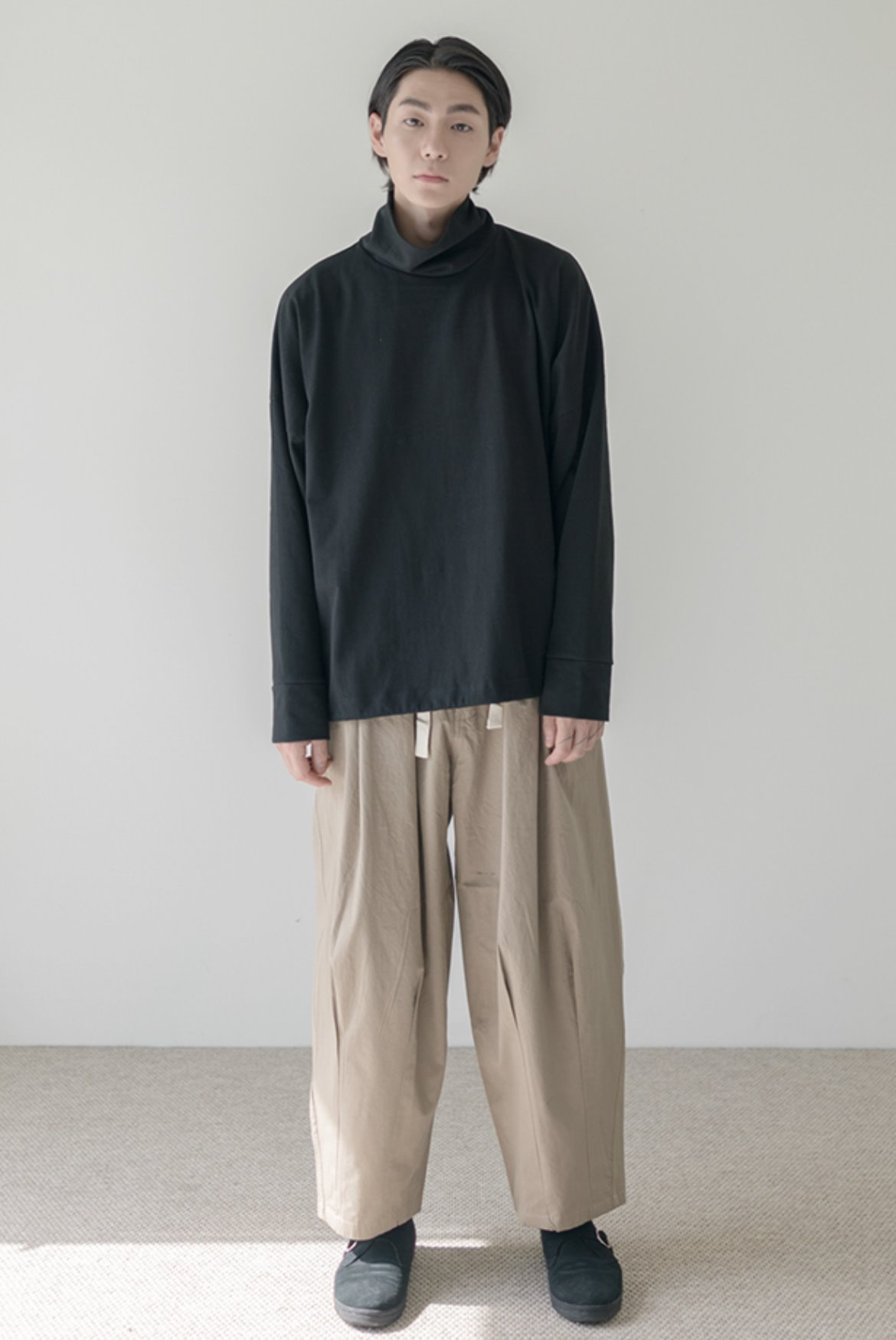 High Cotton Balloon Pants [Beige]
