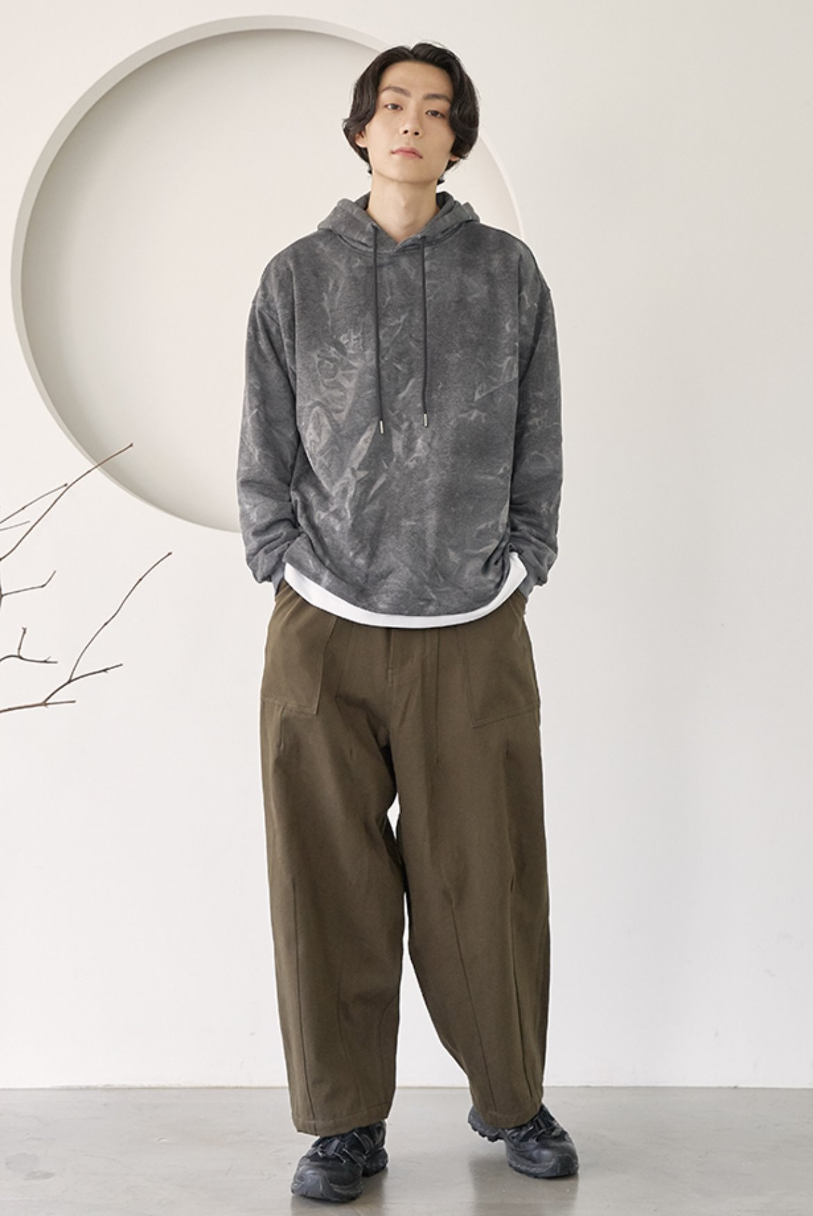 Fatigue Balloon Pants [Khaki]