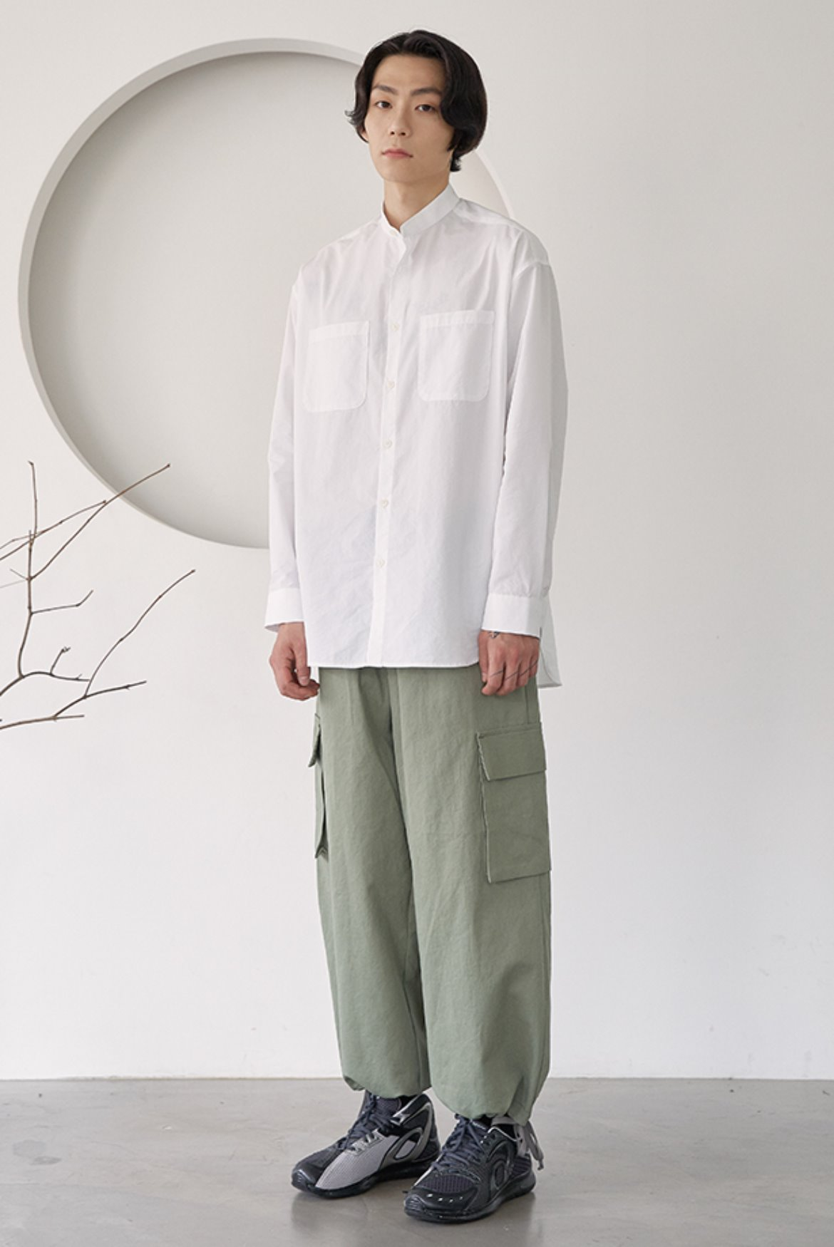 Cargo Wide String Pants [Nile Green]