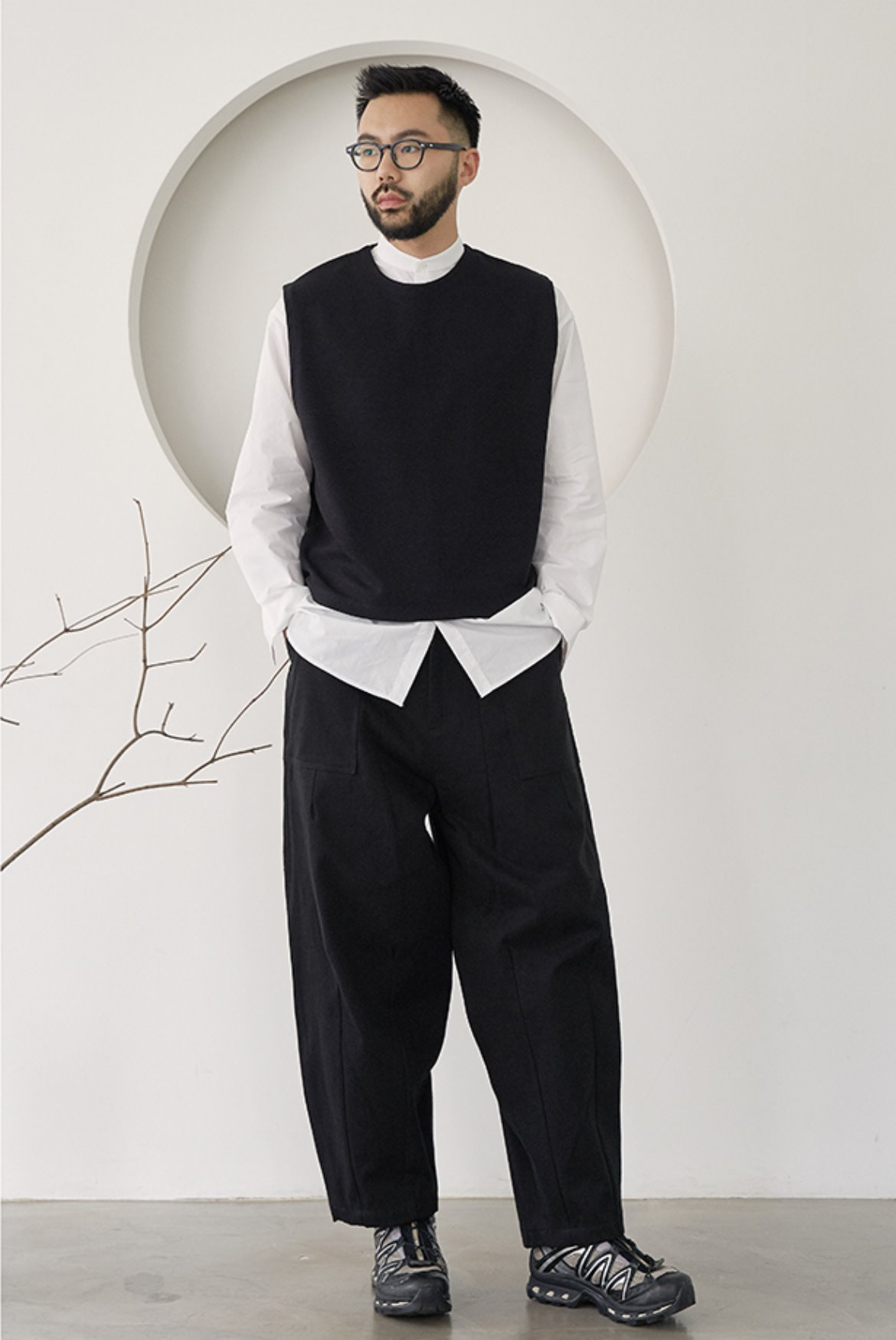 Fatigue Balloon Pants [Black]