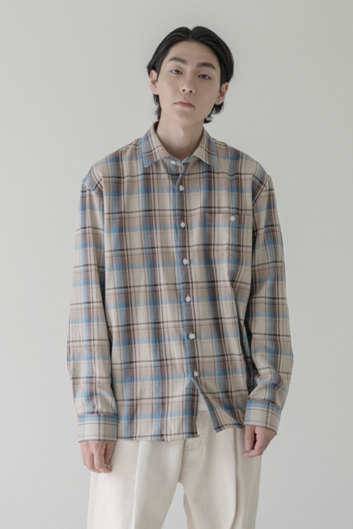 HBT Check Shirts [Beige]