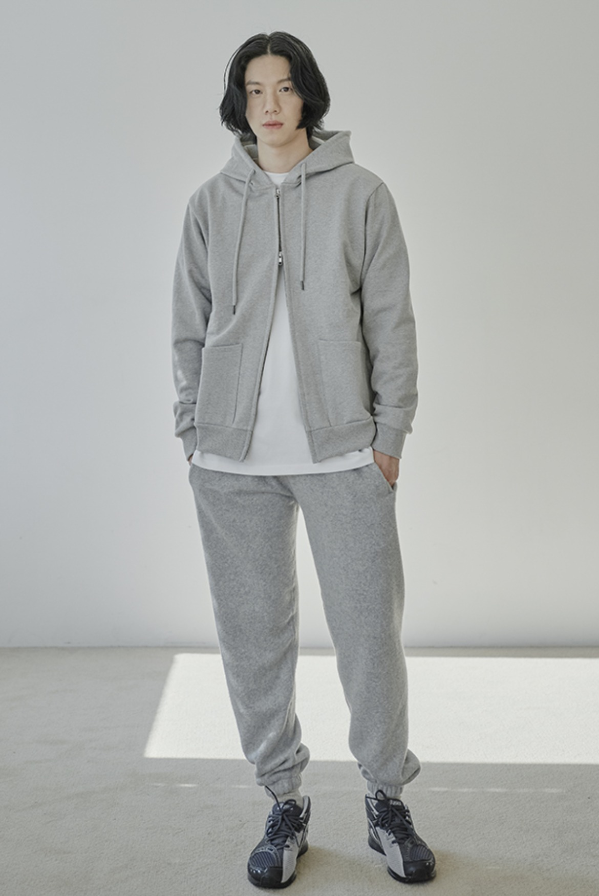 Fleece Sweat Pants [Grey]