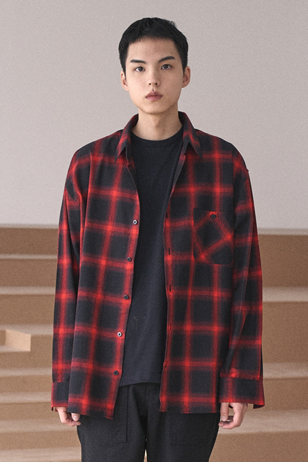 Tartan Check Shirts [Red]