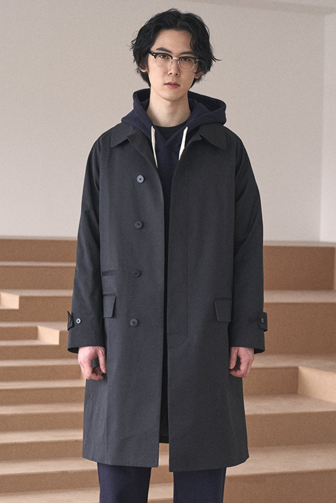 Balmacaan Raglan Coat [Black]