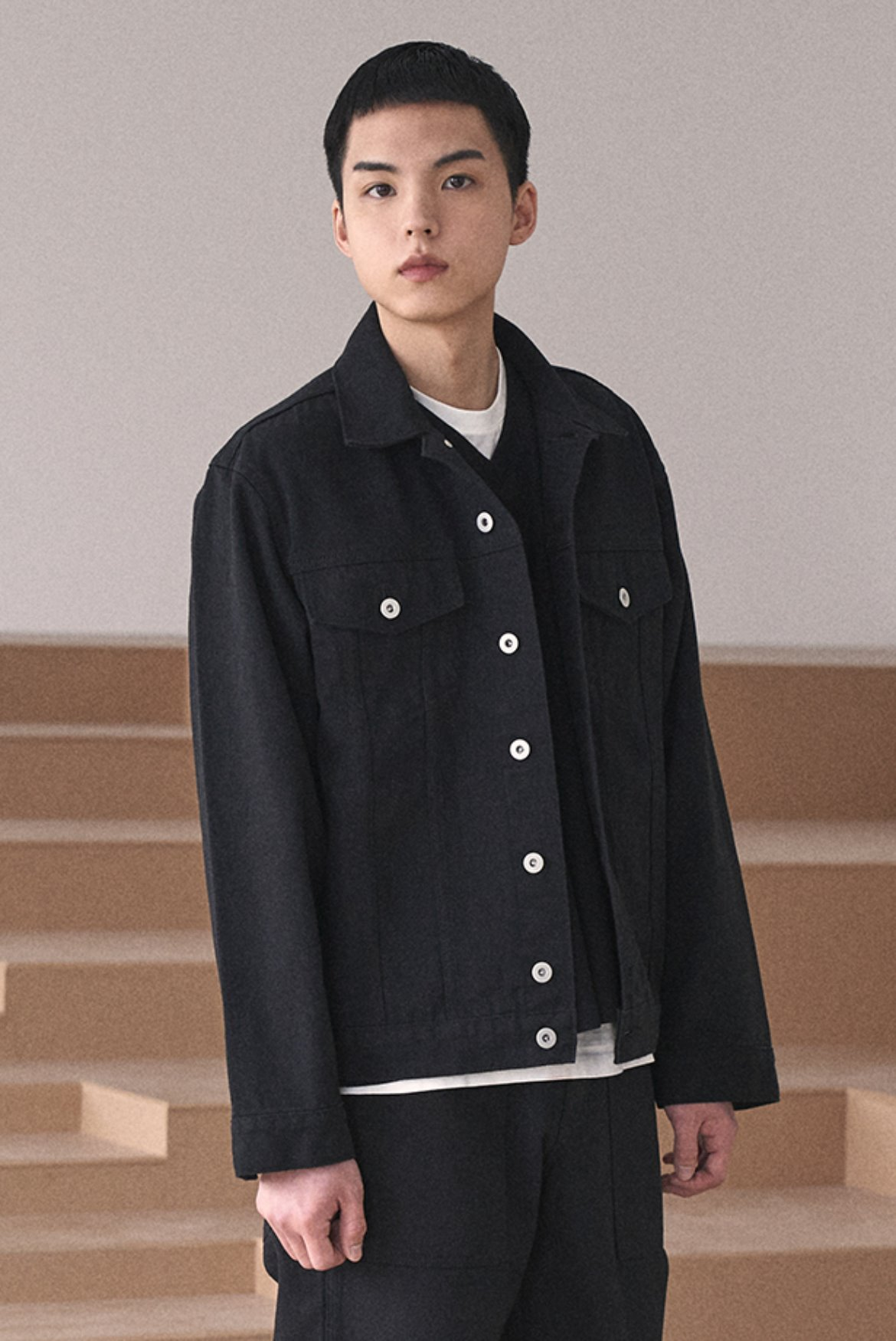 Oversized Cotton Jacket [Black]
