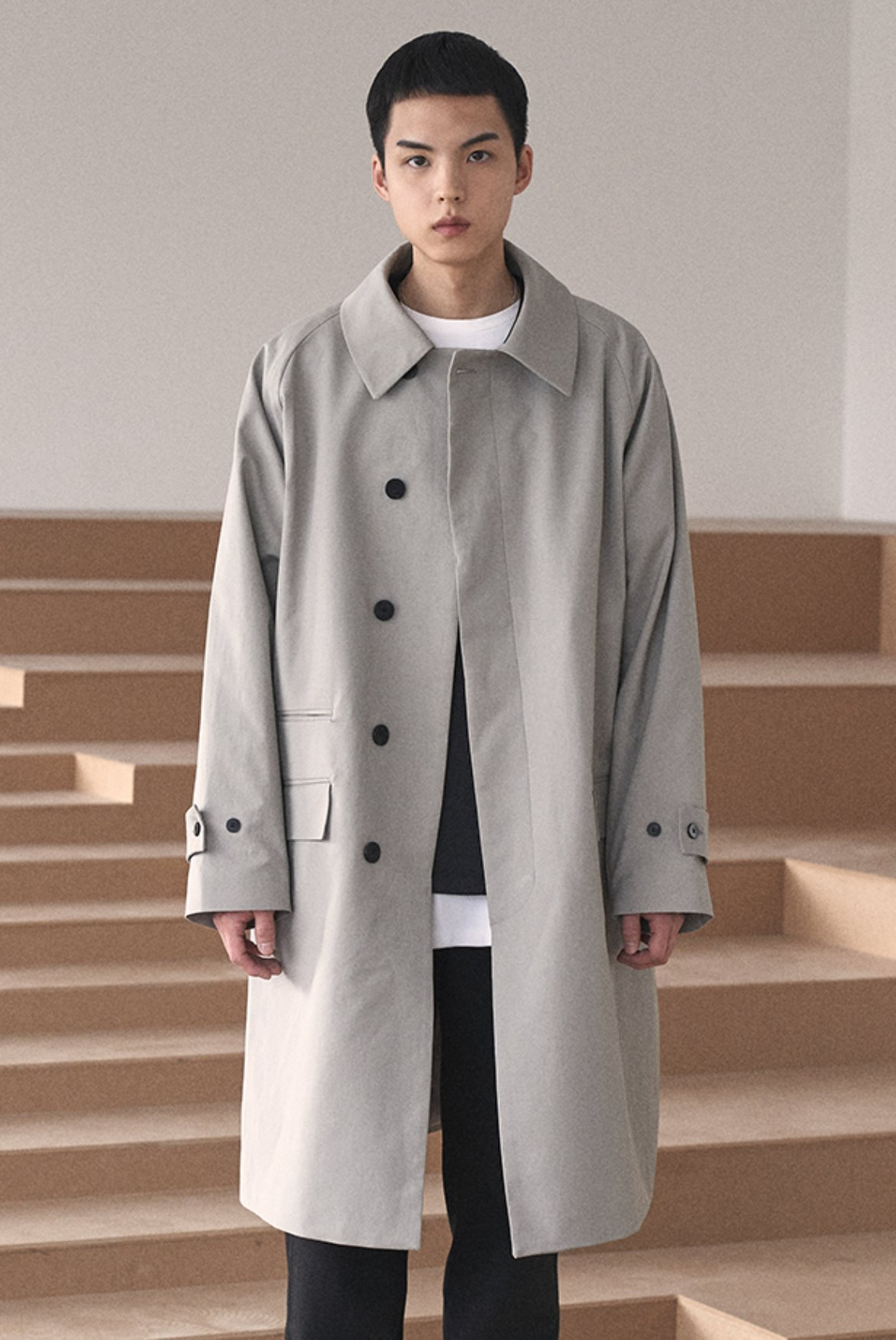 Balmacaan Raglan Coat [Grey]