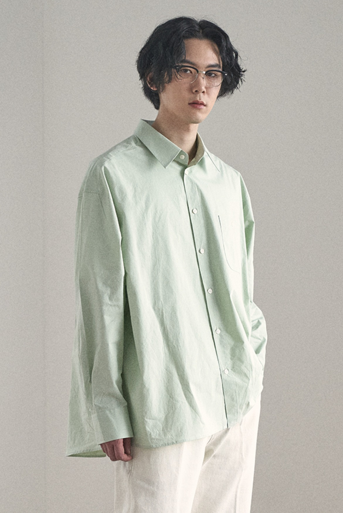 Deep Tuck Shirts [Mint]