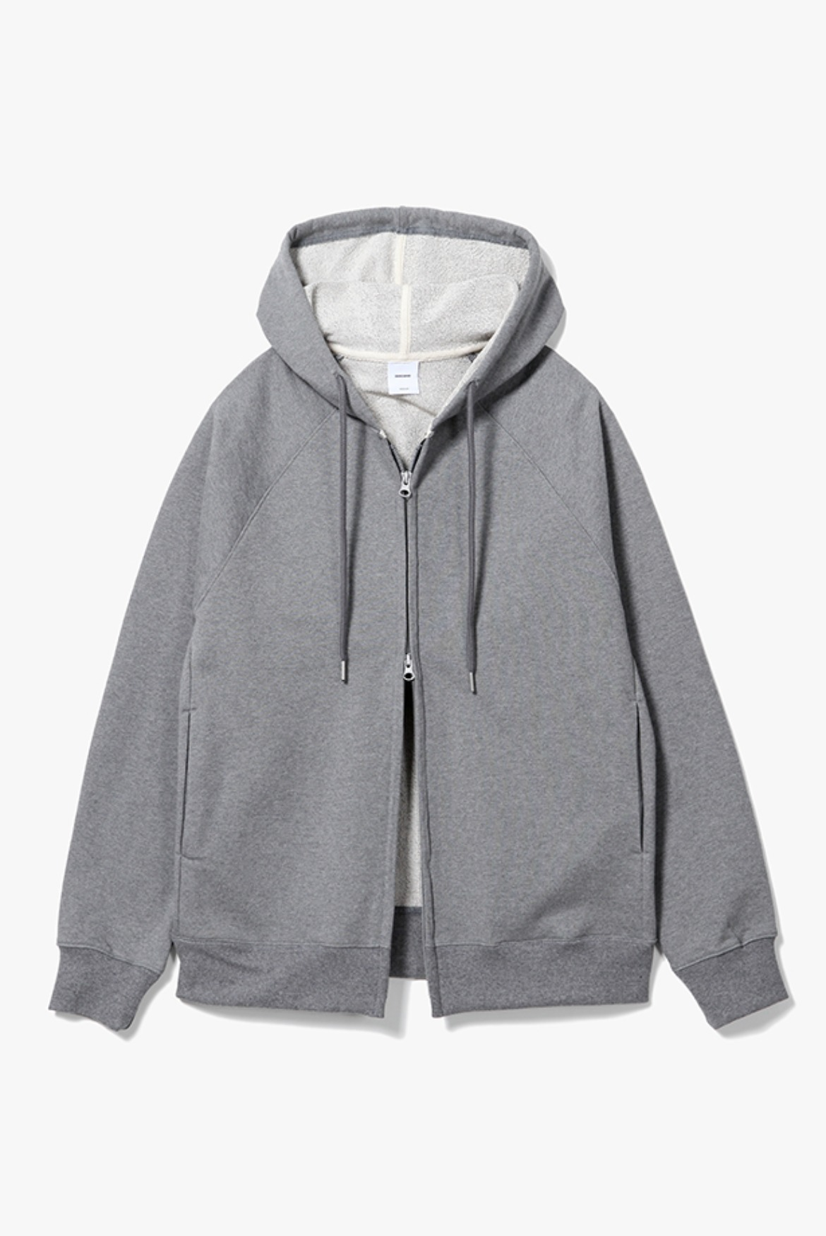 Classic Raglan Hoodie Zip Up [Charcoal]