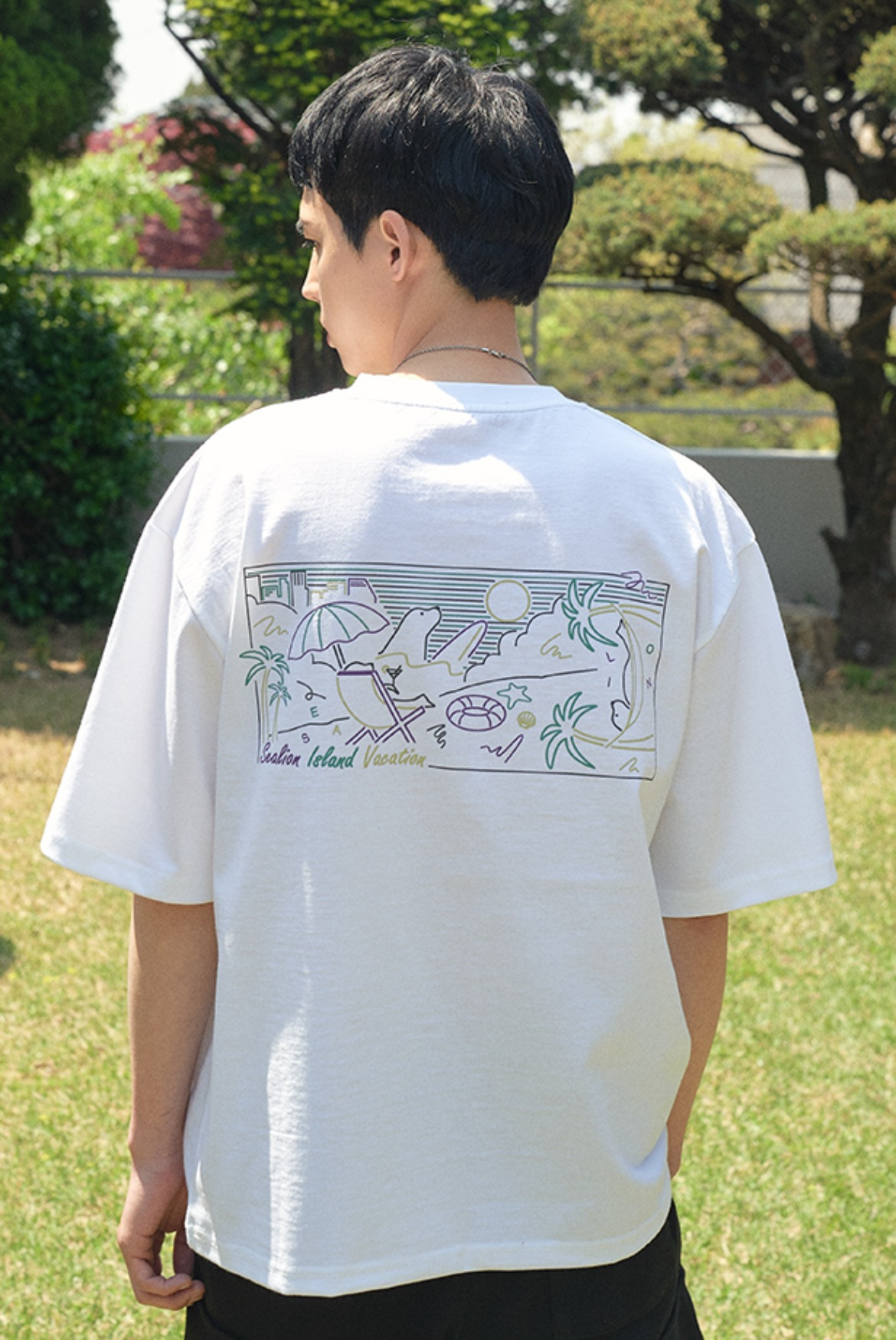 Sealion Pop Art T-Shirts [White]