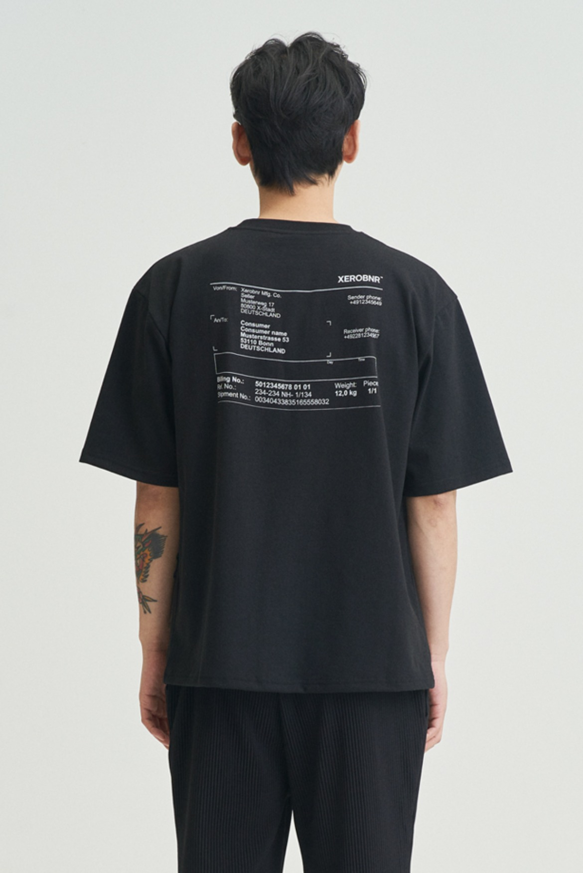 Invoice T-Shirts [Black]