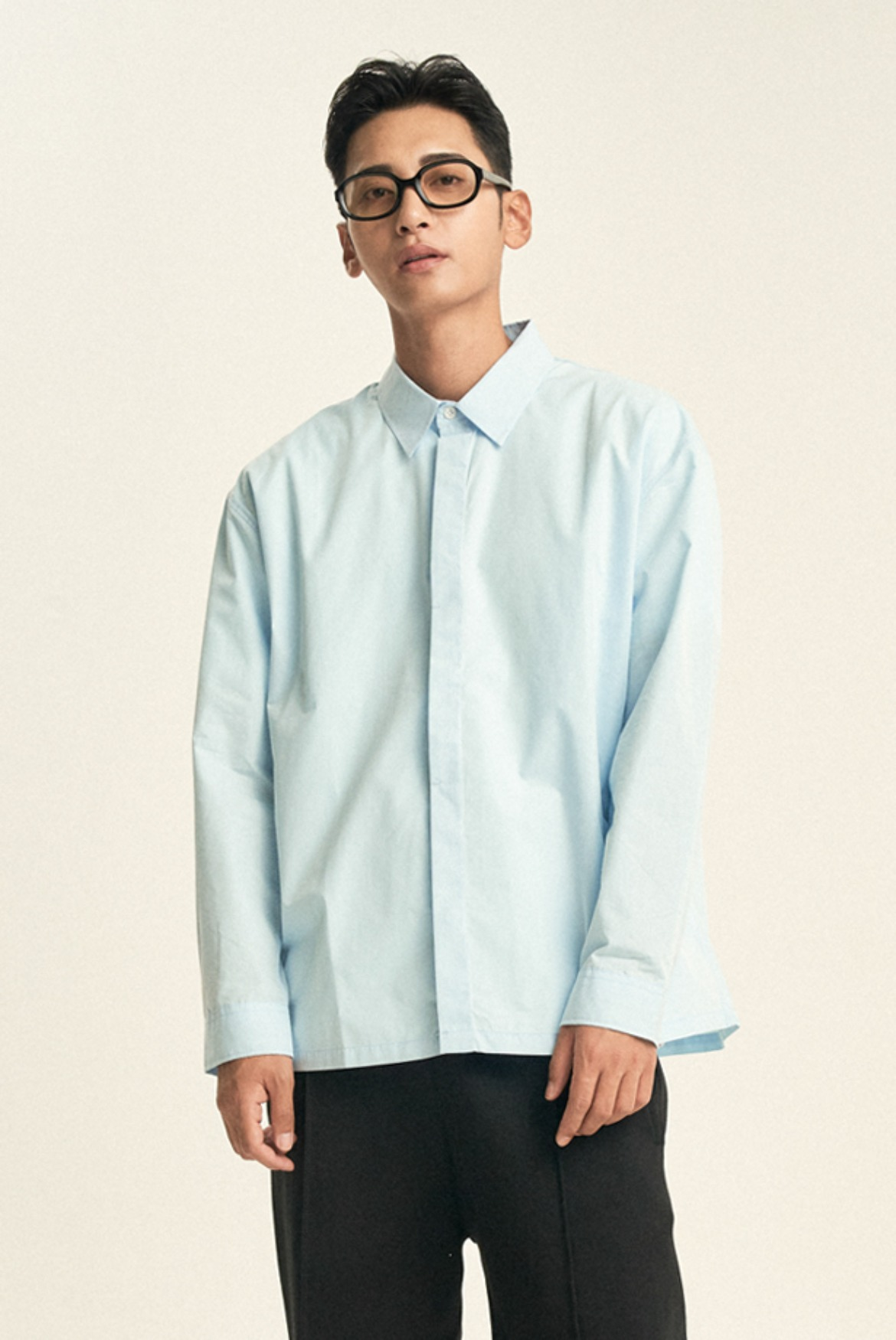 Hidden Solid Shirts [Pool Blue]