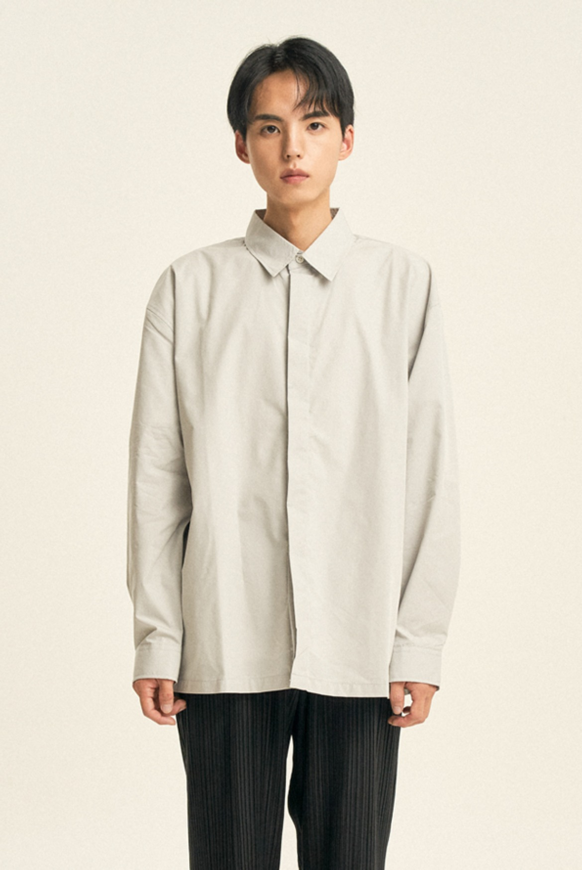 Hidden Solid Shirts [Light Grey]