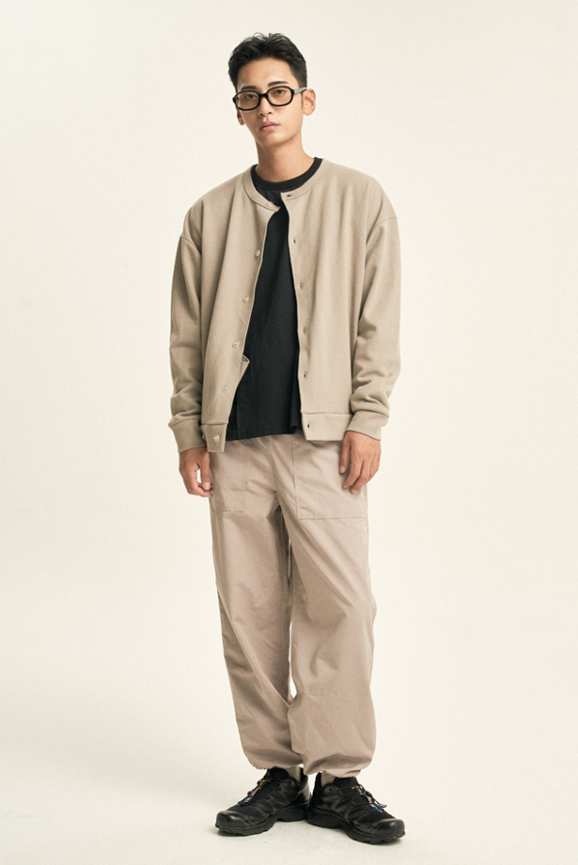 Crunch Wide String Pants [Beige]