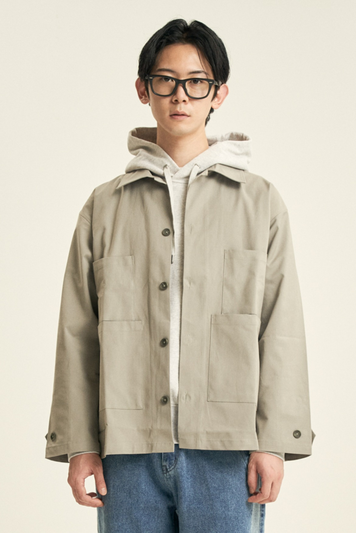 Luster Shirts Jacket [Light Grey]