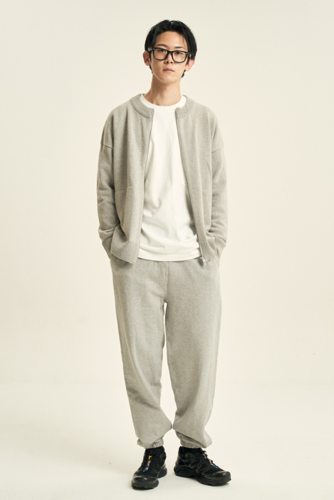 Classic Wide Sweat Pants [Grey]