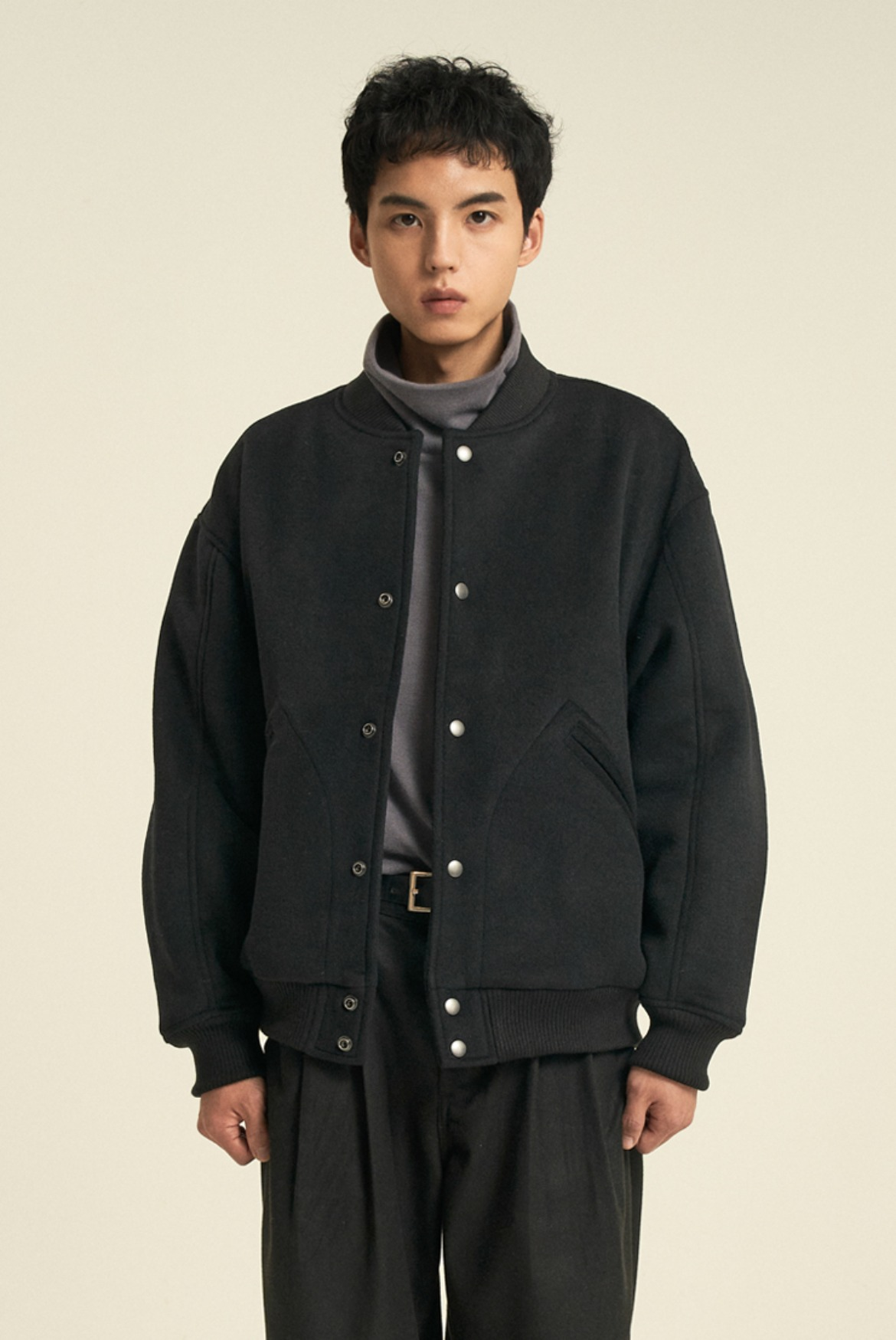 Wool Blouson Jacket