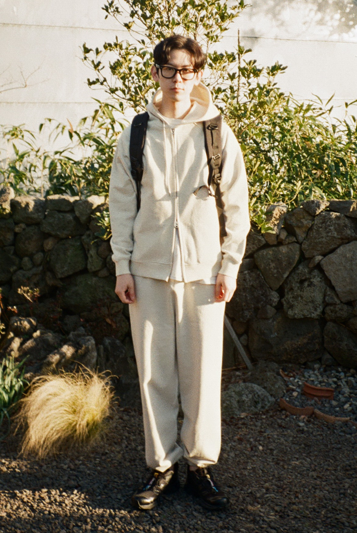 Classic Wide Sweat Pants [Oatmeal]