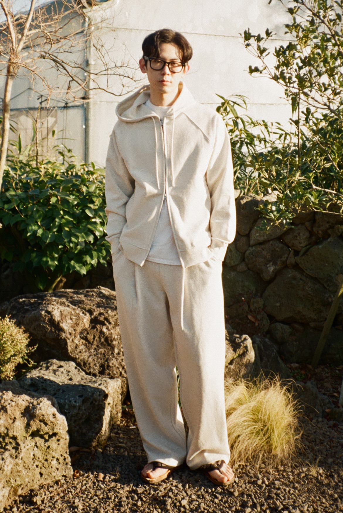 Deep One Tuck Sweat Pants [Oatmeal]