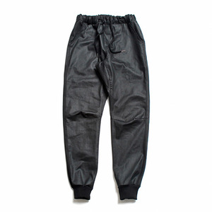"XERO - Coated Jogger Pants Washed ""Black"""