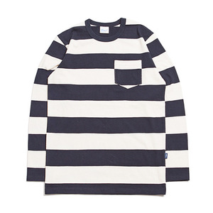 "XERO - Stripe Long Sleeve T ""Navy / Ivory"""