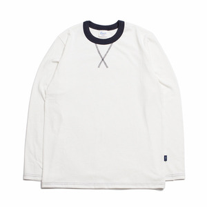 "XERO - Color Neck Long Sleeve-T ""Ivory / Navy"""