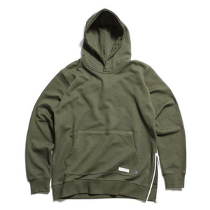 "XERO - Popover Hoody With Side Zipper ""Khaki"""
