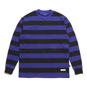 "XERO - Big Round Border T-Shirts ""Black/RoyalBlue"""