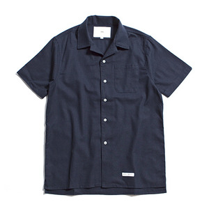"XERO - Hawaiian Linen Solid Shirts ""Navy"""