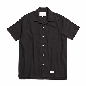 "XERO - Hawaiian Linen Solid Shirts ""Black"""