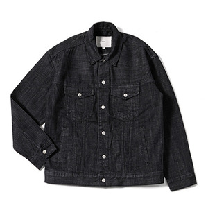 XERO - Denim Jacket Snap closure (Black Dyed)