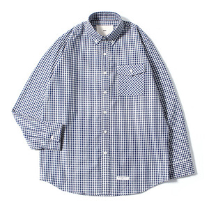XERO - Gingham Check Shirts (Navy)