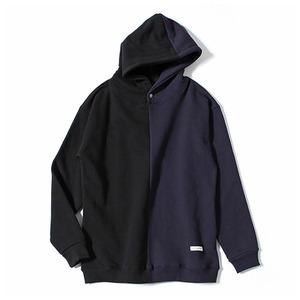 XERO - Split Hooded Sweatshirt (Black/Navy)
