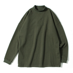 XERO - Mock Neck L/S T-Shirts (Khaki)