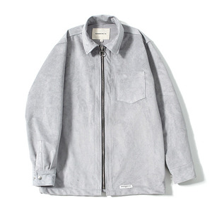 XERO - Suede Zip Shirts (Grey)