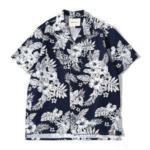 XERO - Flower n Leaf Hawaiian Shirts (Navy)